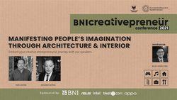 BNI Creativepreneur : Manifesting Peoples Imagination Through Architecture & Interior