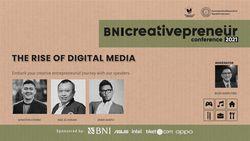 BNI Creativepreneur: The Rise of Digital Media