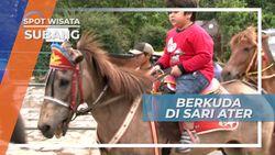 Berkuda Menuju Tempat Pemandian Air Panas Subang Jawa Barat
