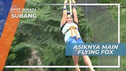 Menguji Adrenalin Bermain Flying Fox di Subang Jawa Barat