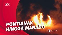 Fenomena Gerhana Bulan Total dari Berbagai Daerah di Indonesia