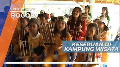 Belajar dan Bermain Angklung di Kampung Wisata Cinangneng, Bogor