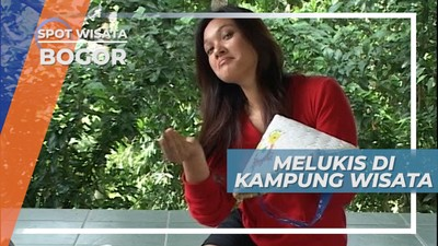 Melukis Topi Petani di Kampung Wisata Cinangneng, Bogor