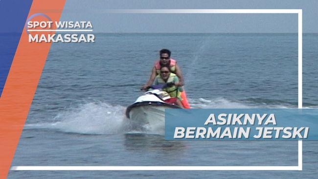 Serunya Bermain Jetski di Pantai Akkarena Makassar