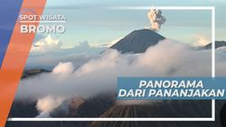 Panorama Indah dari Pananjakan Bromo Jawa Timur
