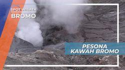 Menikmati Keindahan Kawah Gunung Bromo Dari Dekat, Jawa Timur