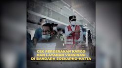 Menhub Cek Kelancaran Pergerakan Kargo dan Layanan Vaksinasi di Bandara Soekarno Hatta