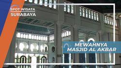 Masjid Al Akbar Surabaya, Mesjid Megah dengan Kaligrafi Diseluruh Bangunan