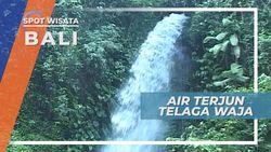 Air Terjun Telaga Waja, Curahan Keindahan Alam Setinggi 8m di Karangasem Bali
