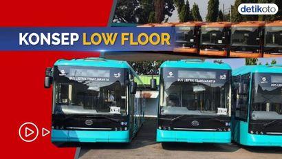 Begini Wajah Bus Listrik TransJakarta