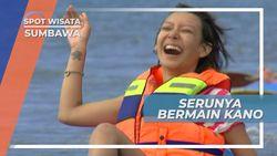 Menikmati Suasana Pantai Labuan Pade Dengan Bermain Kano, Sumbawa