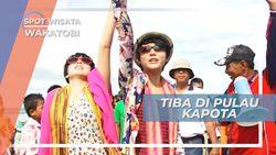 Penyambutan Meriah Ratusan Warga di Pulau Kapota Wakatobi Sulawesi Tenggara