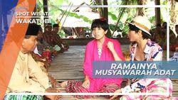 Ramainya Musyawarah Adat Warga Pulau Kapota Wakatobi Sulawesi Tenggara