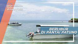 Berlibur di Pantai Patuno, Pasir Indah dan Bermata Air Tawar di Wakatobi Sulawesi Tenggara