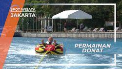 Naik Donat Ditarik Speed Boat, Permainan Air Menantang dan Menguji Adrenalin, Jakarta
