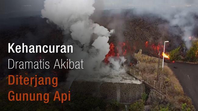 Mata Langit: Amukan Lahar Panas dari Gunung Api di Spanyol