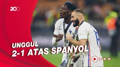 Ekspresi Kemenangan Prancis Juarai UEFA Nations League 2021!