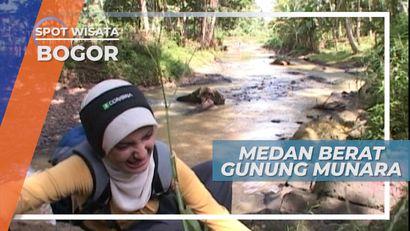 Gunung Munara, Jalur Pendakian yang Sulit, Bogor