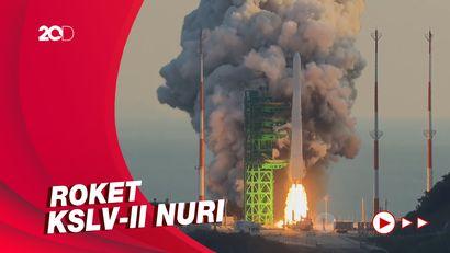 Detik-detik Peluncuran Roket Pertama Korsel ke Luar Angkasa
