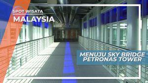 Menuju Sky Bridge di Menara Kembar Petronas Malaysia