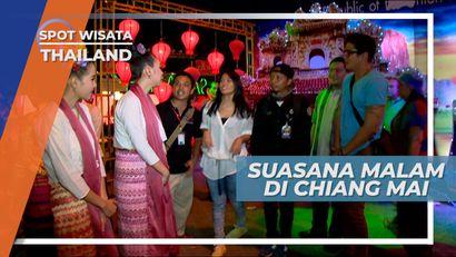 Meriah Lampu Warna-Warni Menghias Malam di Chiang Mai Thailand