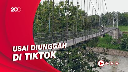 Inilah Jembatan Gantung Kalinegoro Magelang yang Viral di Medsos