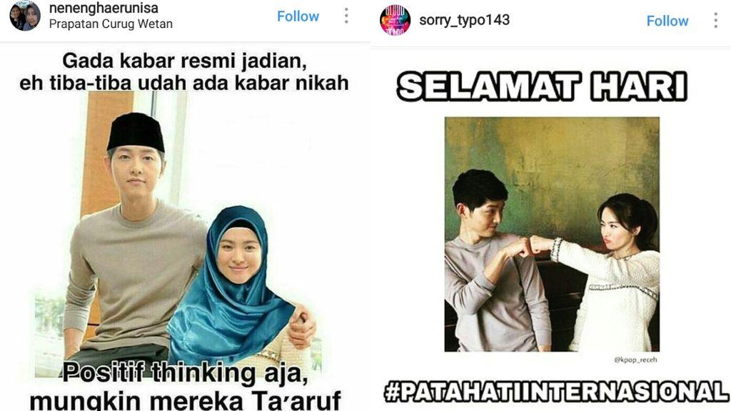 Bikin Ngakak! Deretan Meme Pernikahan Song Song Couple
