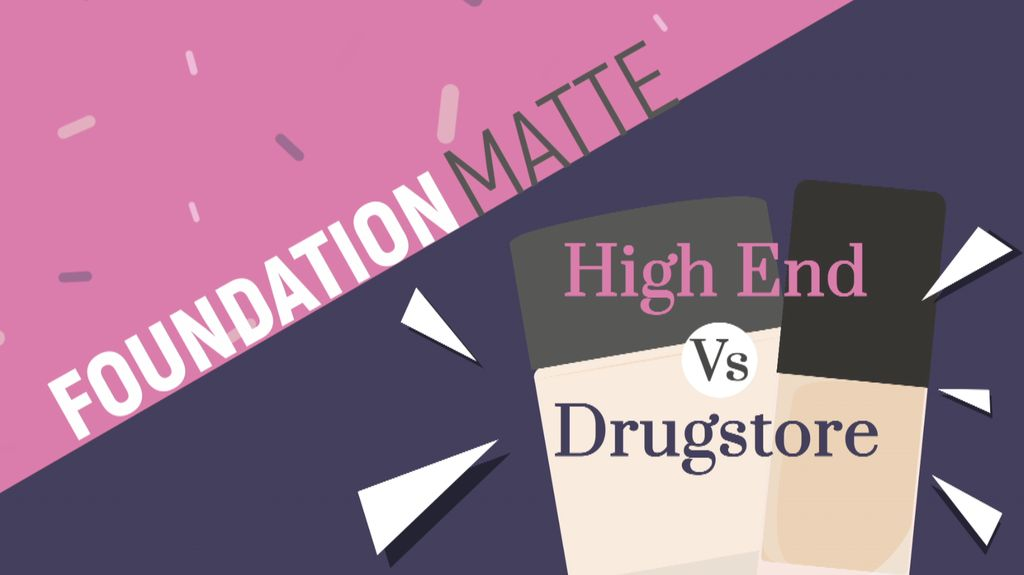 Foundation Matte High End Vs Drugstore
