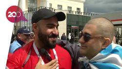 Hangatnya Suporter Mesir dan Uruguay Jelang Laga