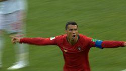 Aksi-aksi Ronaldo Cetak Hattrick Lawan Spanyol