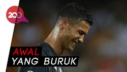 Kartu Merah dan Kesedihan CR7 Warnai Kemenangan Juventus