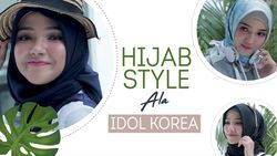 Intip Hijab Style Korea ala Ayu Indriati