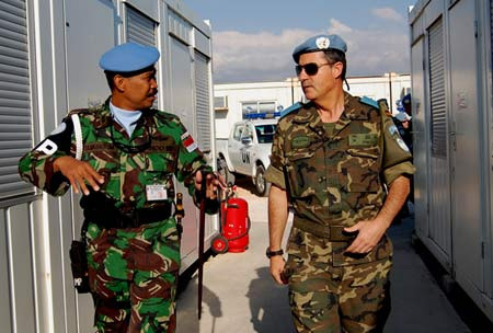 Komandan UNIFIL Kunjungi Satgas POM TNI