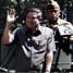 Presiden SBY didampingi Panglima TNI Jenderal Djoko Santoso menaiki panser saat meninjau panser-panser di hanggar PT Dirgantara Indonesia, Bandung, Jawa Barat. Dudi Anung/Setpres.