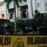 Areal lokasi ledakan diberi garis polisi.
