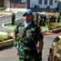 Penghormatan kepada Inspektur Upacara Force Commander UNIFIL. (Kapten Laut (KH) Hondor Saragih).
