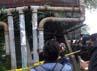 Pelaku membawa bahan peledak dengan sepeda onthel.