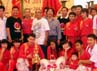 Ketua Umum ALBSI, Ki Kusumo Bersama 3 Perwakilan Induk Organisasi Liong Dan Barongsai berpose bersama para pemenang. (Andriyanto)