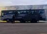 Para prajurit TNI AU juga menggelar simulasi penanganan pembajakan bus.