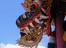 Layang-layang Jangan, kepalanya terbuat dari kepala naga yang dihias dengan aneka pernik.