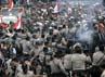 Bentrokan terjadi di terminal Gorong-gorong, Timika, Papua. Reuters/Muhammad Yamin.
