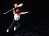 Yang dipercaya untuk menyalakan api SEA Games di kaldron adalah mantan ratu bulutangkis Indonesia, Susi Susanti. Dia terbang di udara sambil membawa api SEA Games.