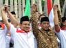 Kirab Resolusi Jihad yang dimulai dari Surabaya, Jawa Timur tersebut bertujuan untuk mempererat persatuan bangsa.