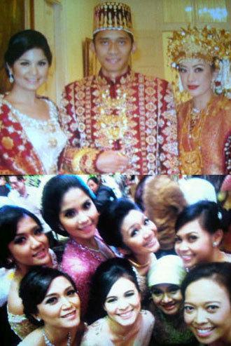 Foto-foto Annisa Pohan di Pernikahan Ibas & Aliya 1