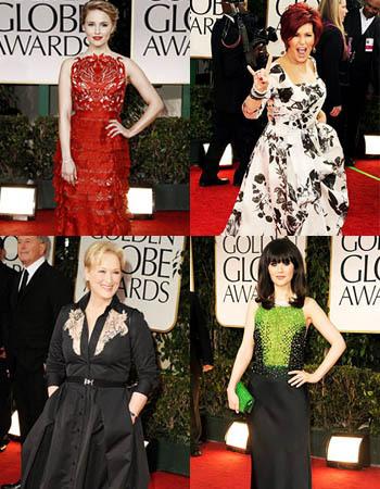 10 Busana Terbaik & Terburuk Seleb di Golden Globe Awards 1