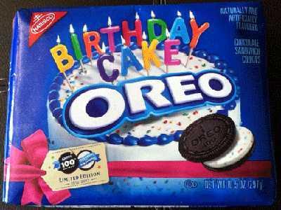 Birthday Cake Oreos Khusus 100 Tahun Oreo
