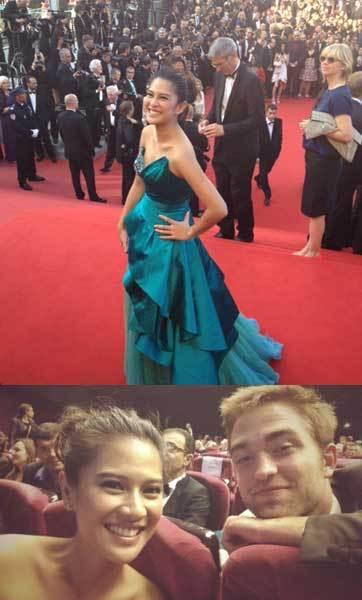 Wow! Dian Sastrowardoyo Foto Bareng Robert Pattinson di Cannes