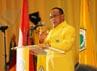Ical memberikan sambutan dalam acara pembukaan Rapimnas yang digelar selama dua hari, mulai 29-30 Juni 2012.