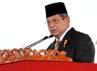 Dalam sambutannya, Presiden SBY mengingatkan bahwa HUT ke-66 Bhayangkara tahun ini mengangkat tema besar dengan lima kata kunci utama, yaitu pelayanan prima, anti KKN, antikekerasan, memantapkan keamanan dalam negeri, dan menegakkan supremasi hukum. Rusman/Setpres.