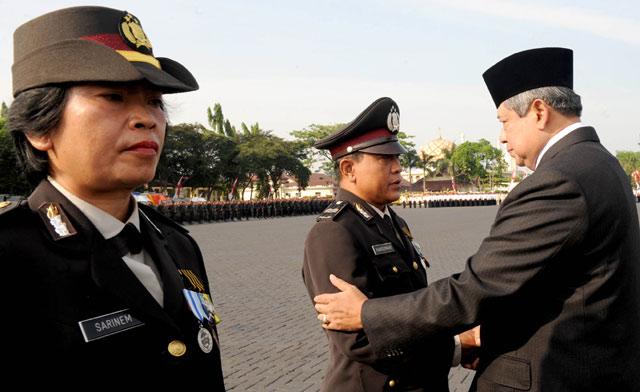 SBY Peringati Hari Bhayangkara ke-66
